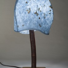 3 Panel Blue Table Lamp