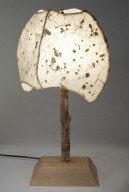 4 Panel Natural Table Lamp