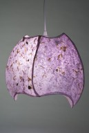 4 Panel Lavender Pendant Lamp