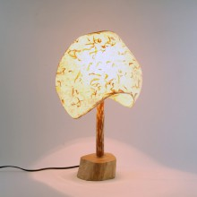 2 Panel Natural Table Lamp