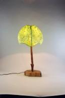 4 Panel Green Table Lamp