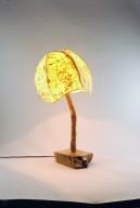 5 Panel Tinted Yellow Table Lamp